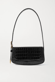 Balenciaga Ghost croc-effect leather shoulder bag