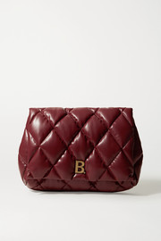 Balenciaga Touch Puffy large embellished quilted leather clutch