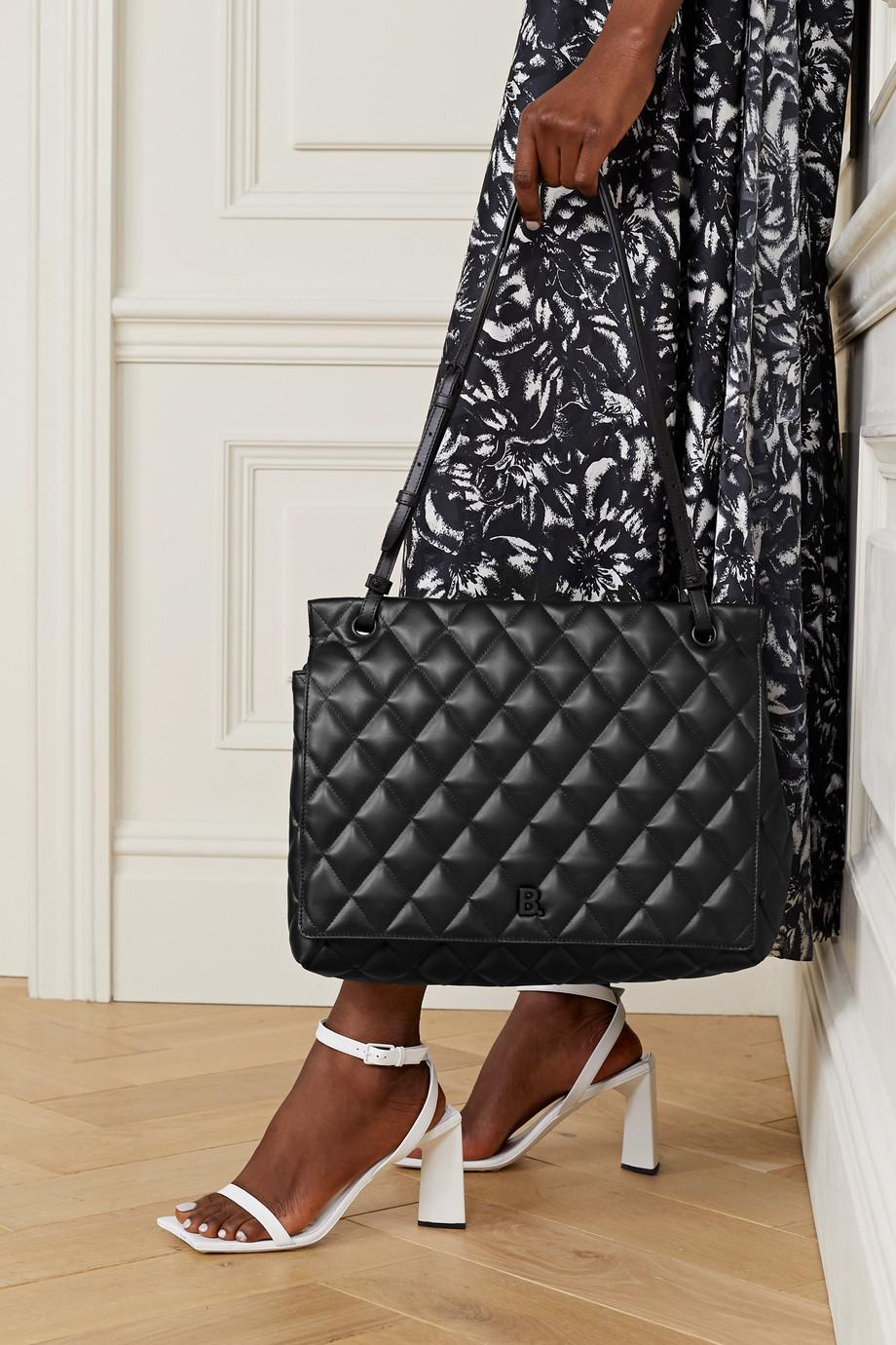 Balenciaga Touch Schultertasche aus gestepptem Leder