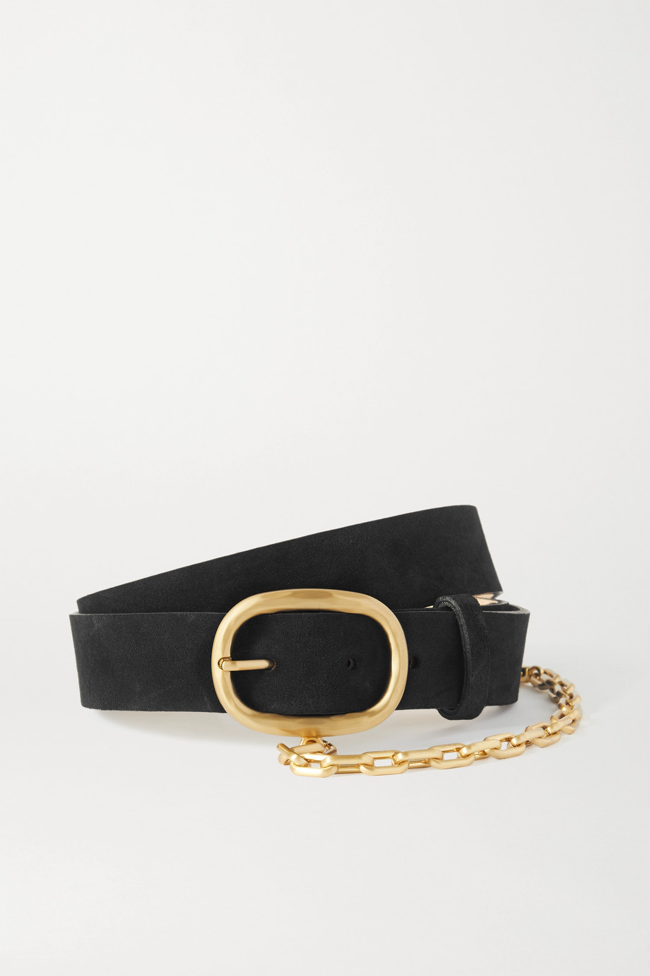 rag & bone Wingman chain-embellished leather belt