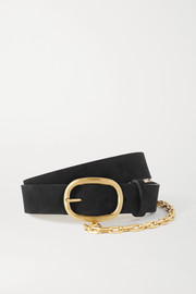 rag & bone Wingman chain-embellished leather belt