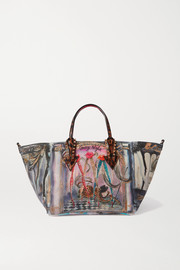 Christian Louboutin Cabaraparis small leather-trimmed embellished printed neoprene tote