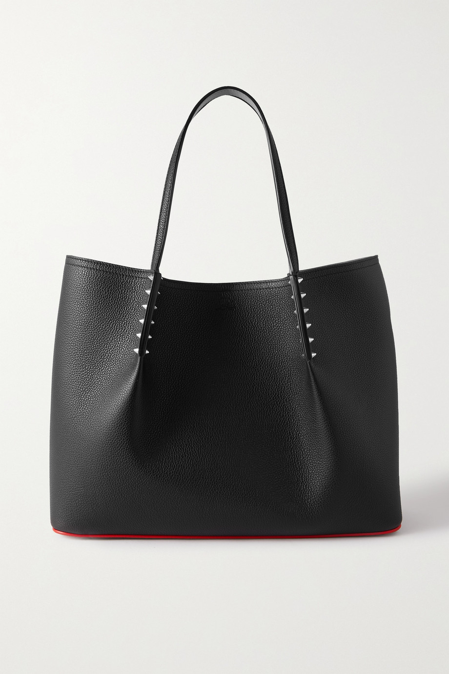 Christian Louboutin Cabarock spiked textured-leather tote