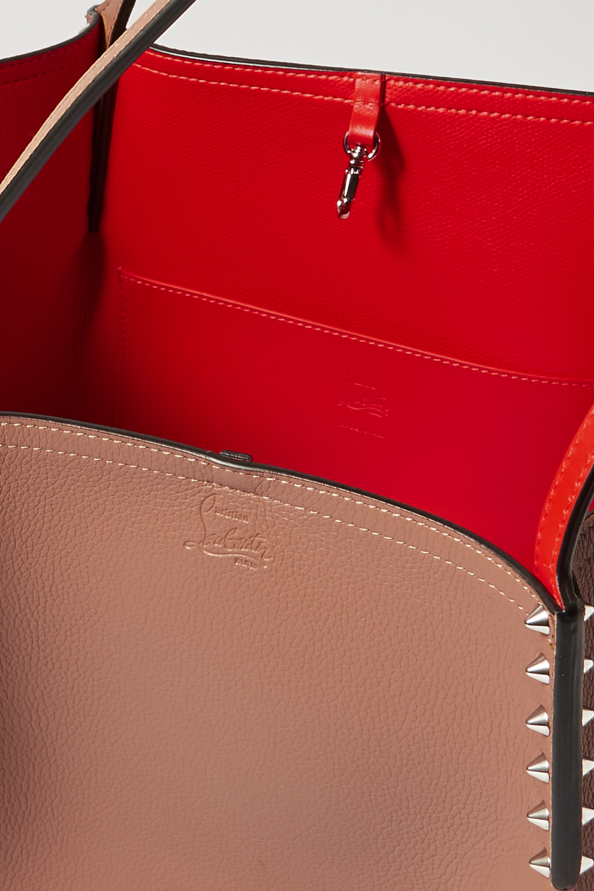 Christian Louboutin Cabarock spiked leather tote