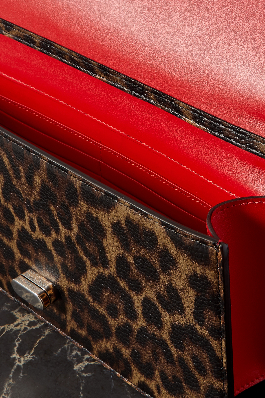 Christian Louboutin Elisa small leopard-print textured-leather shoulder bag
