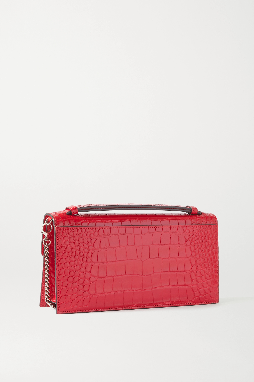 Christian Louboutin Elisa croc-effect leather shoulder bag
