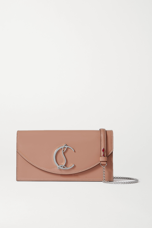 Christian Louboutin Loubi54 patent-leather clutch