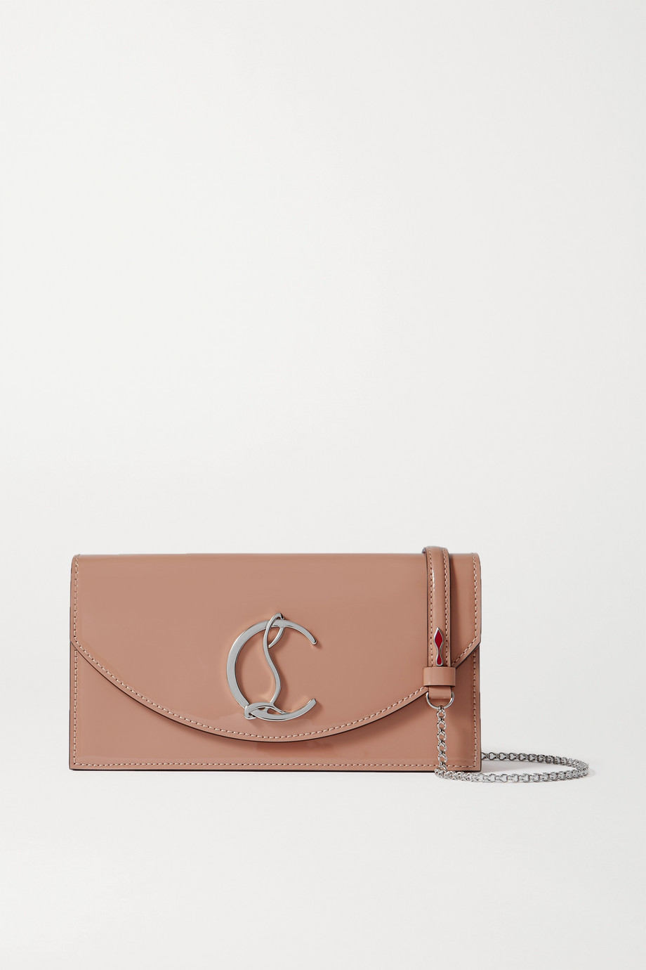 Christian Louboutin Loubi54 patent-leather clutch