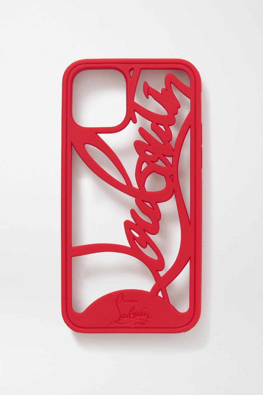 Christian Louboutin Coque pour iPhone 11 Pro en PVC à découpes Louboutin Logo