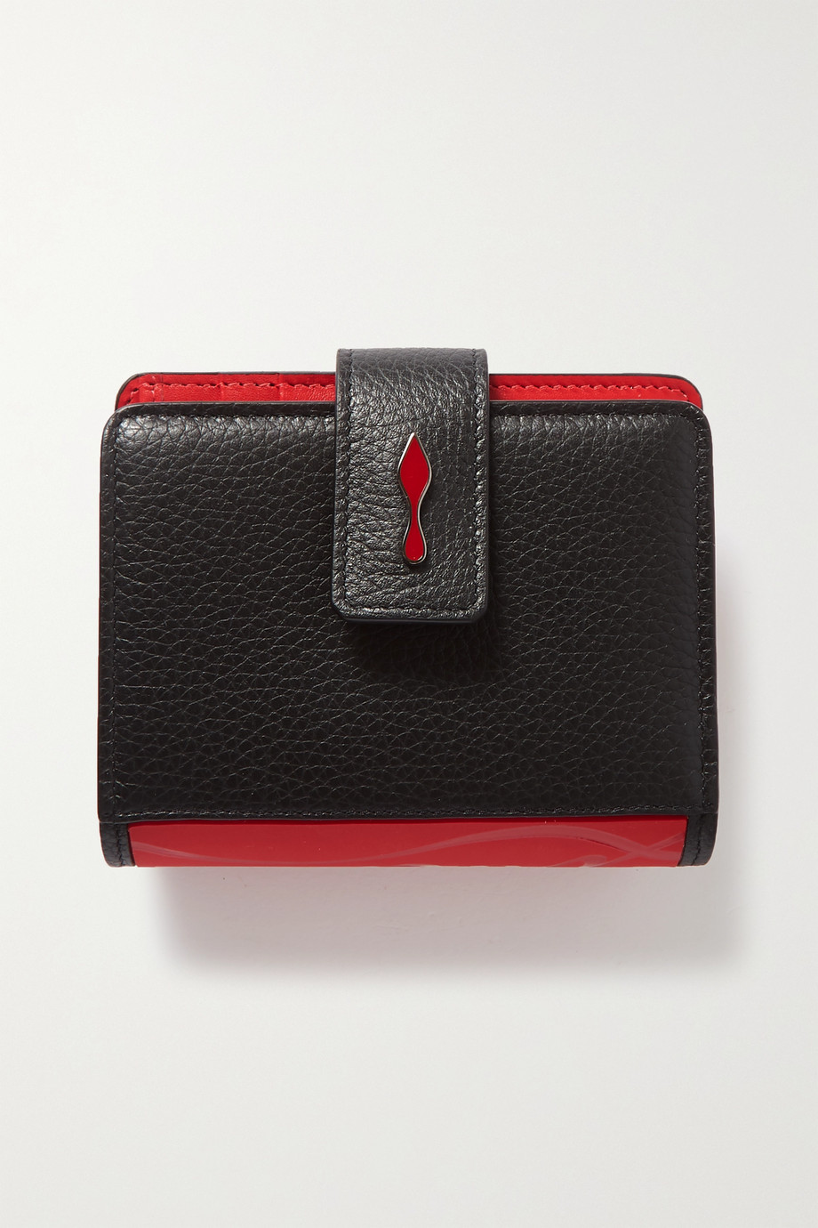 Christian Louboutin Paloma rubber-trimmed textured-leather wallet