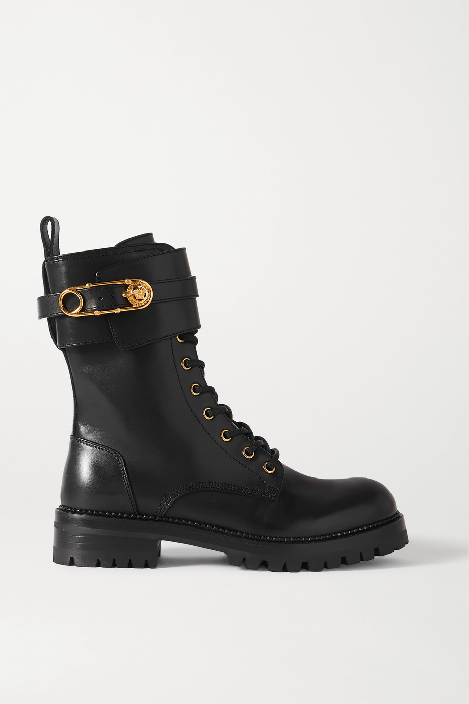 Versace Bottines en cuir à ornements