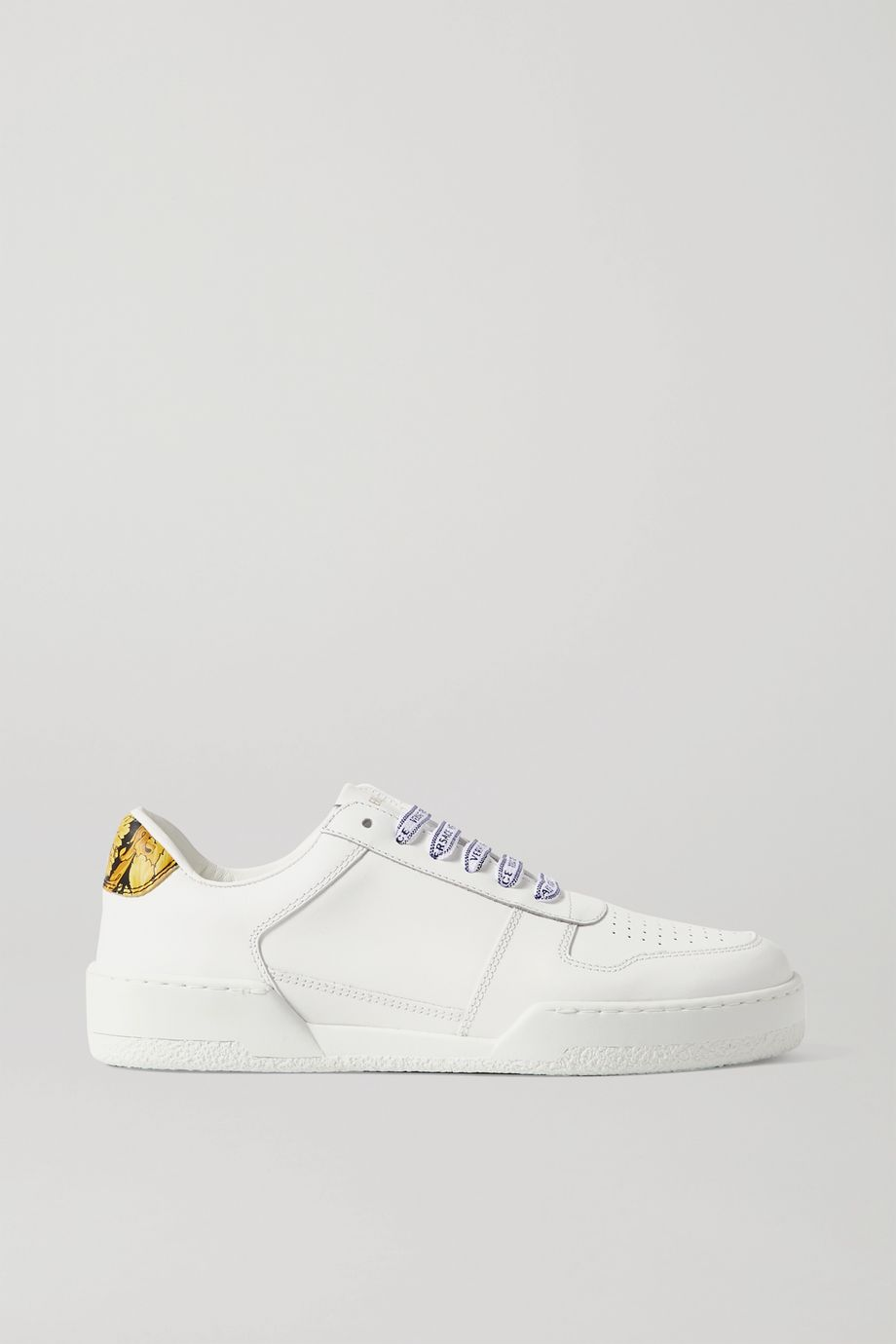 Versace Ilus printed leather sneakers