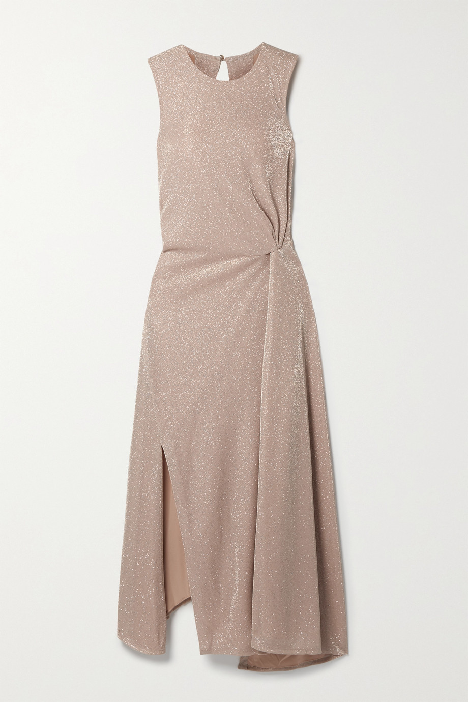 Lanvin Cutout gathered Lurex midi dress