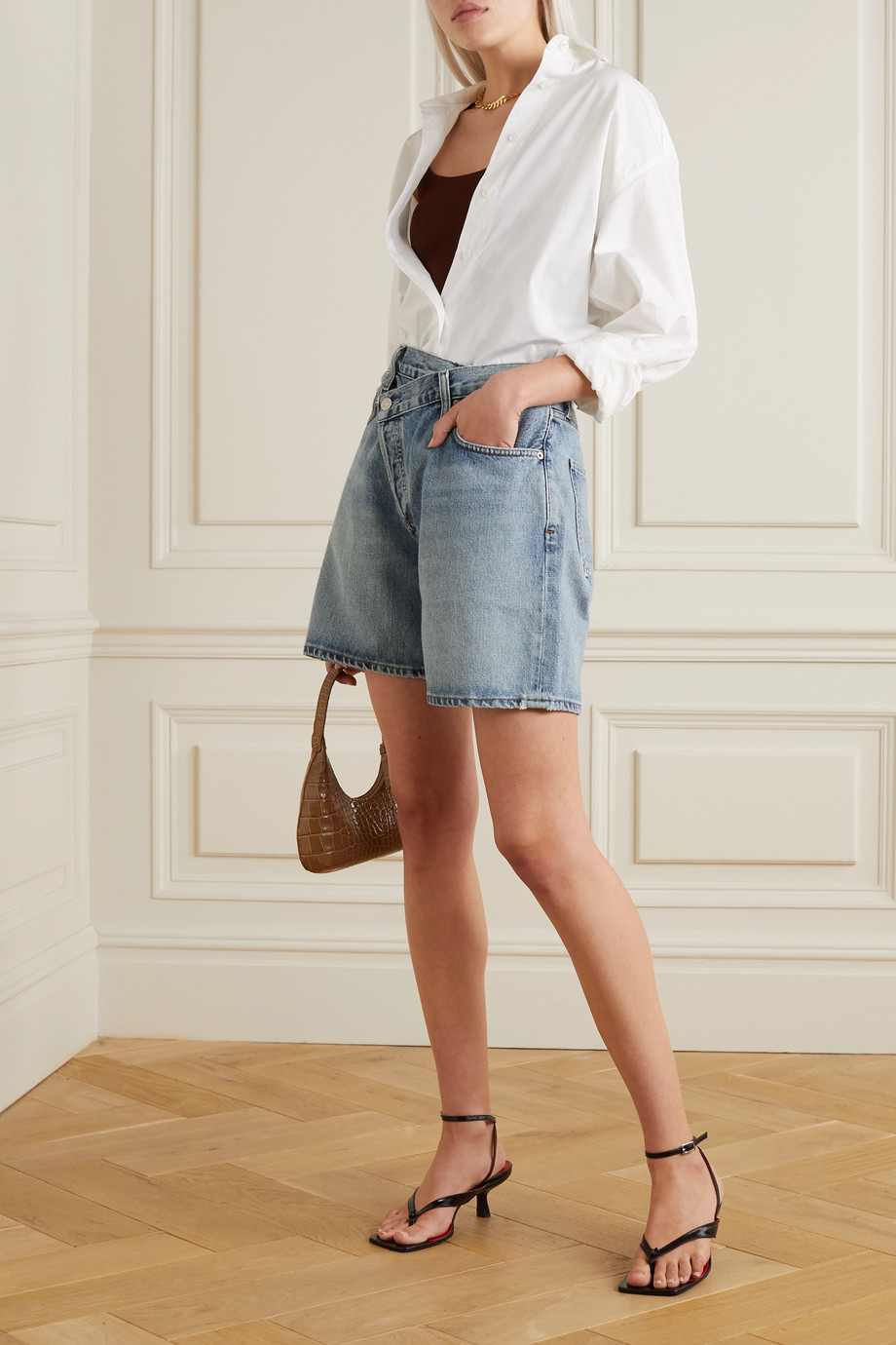 AGOLDE Criss Cross Shorts aus Bio-Denim
