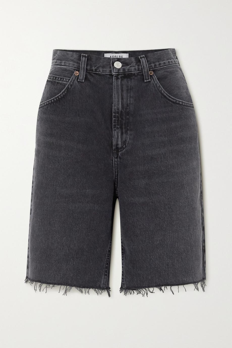 AGOLDE Short en jean effet vieilli Pinch