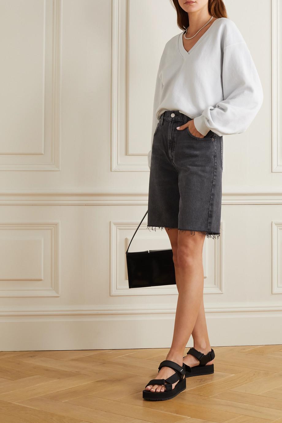 AGOLDE Pinch distressed denim shorts
