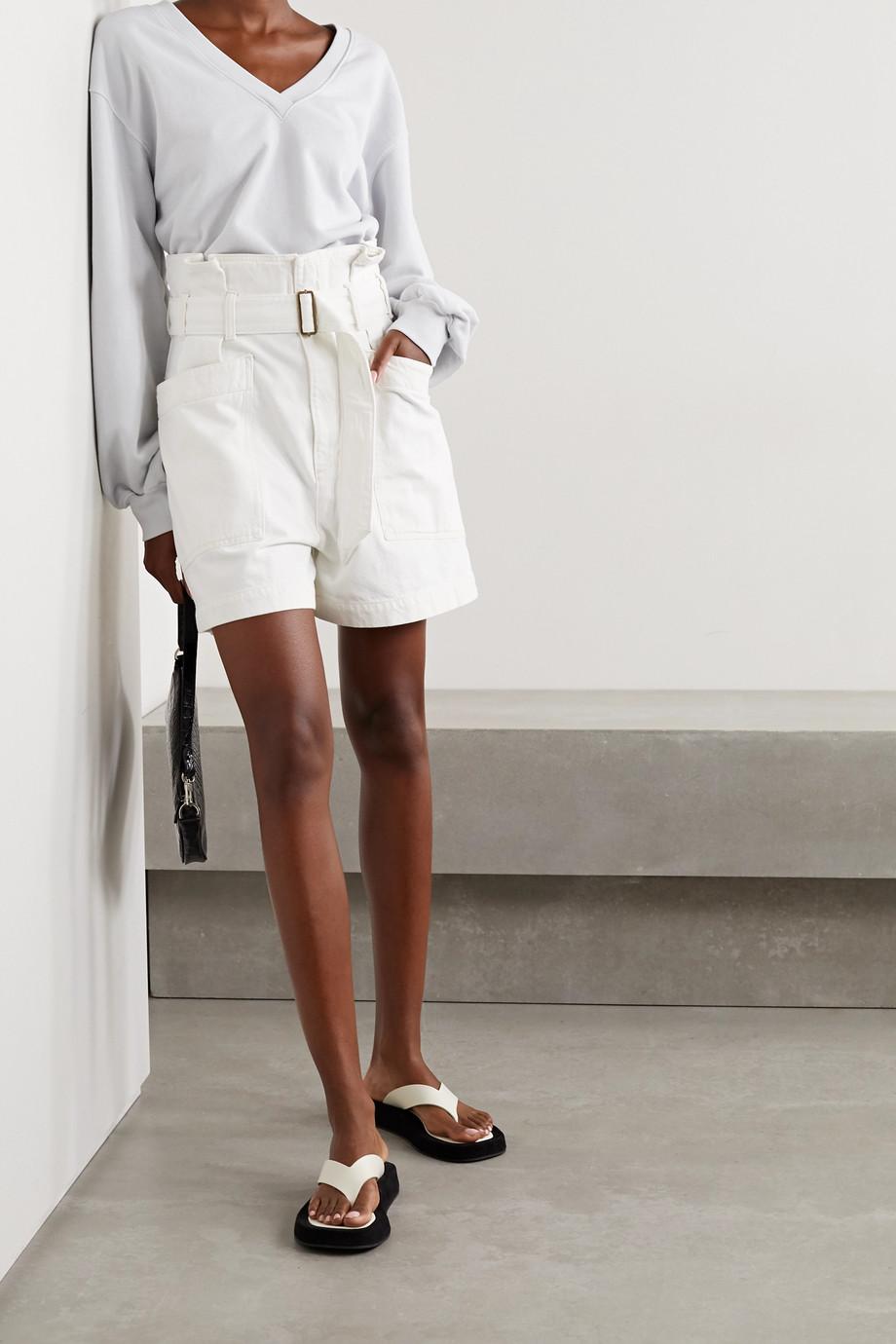 AGOLDE Celia belted denim shorts
