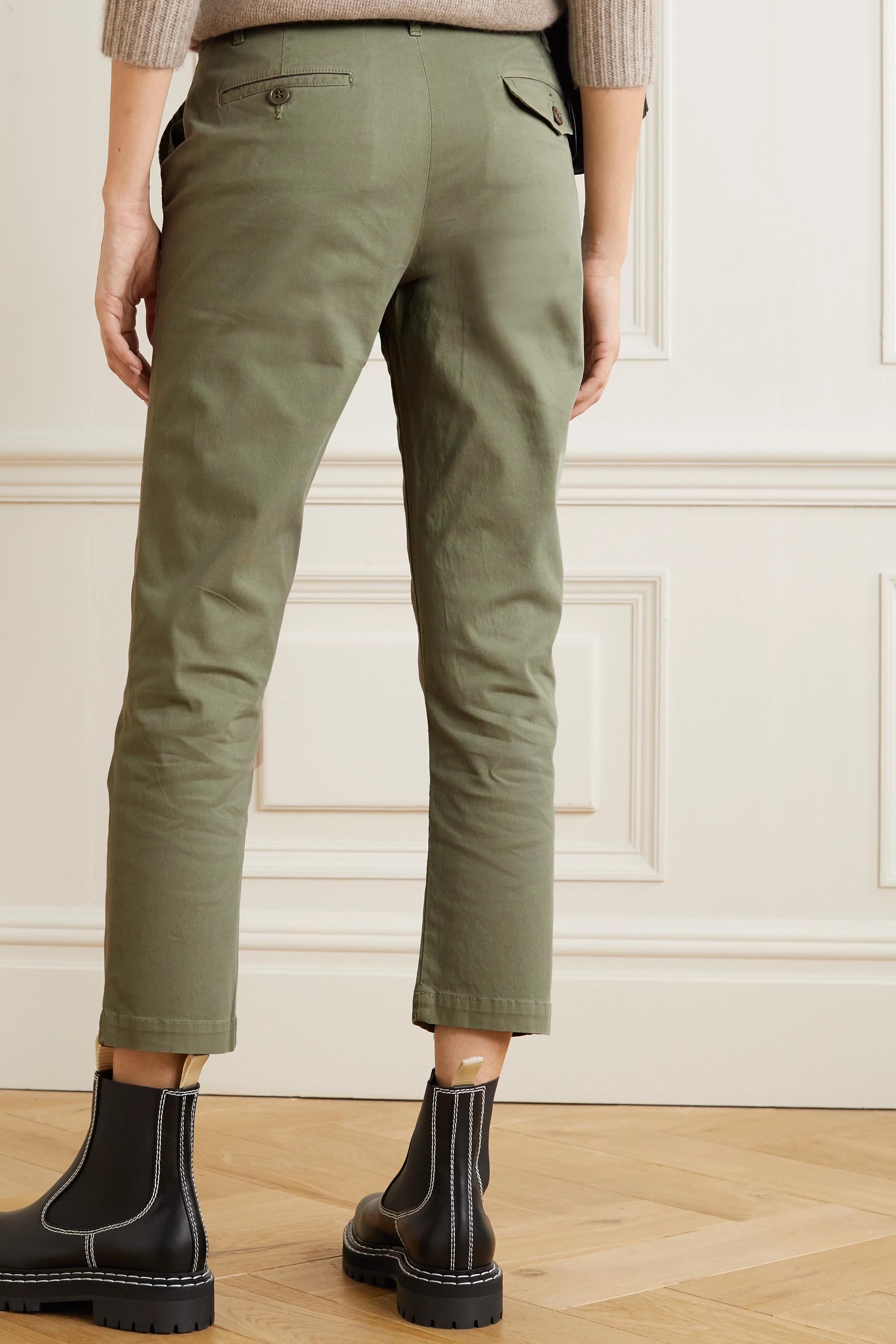 Citizens of Humanity Brooke cropped cotton-blend straight-leg pants