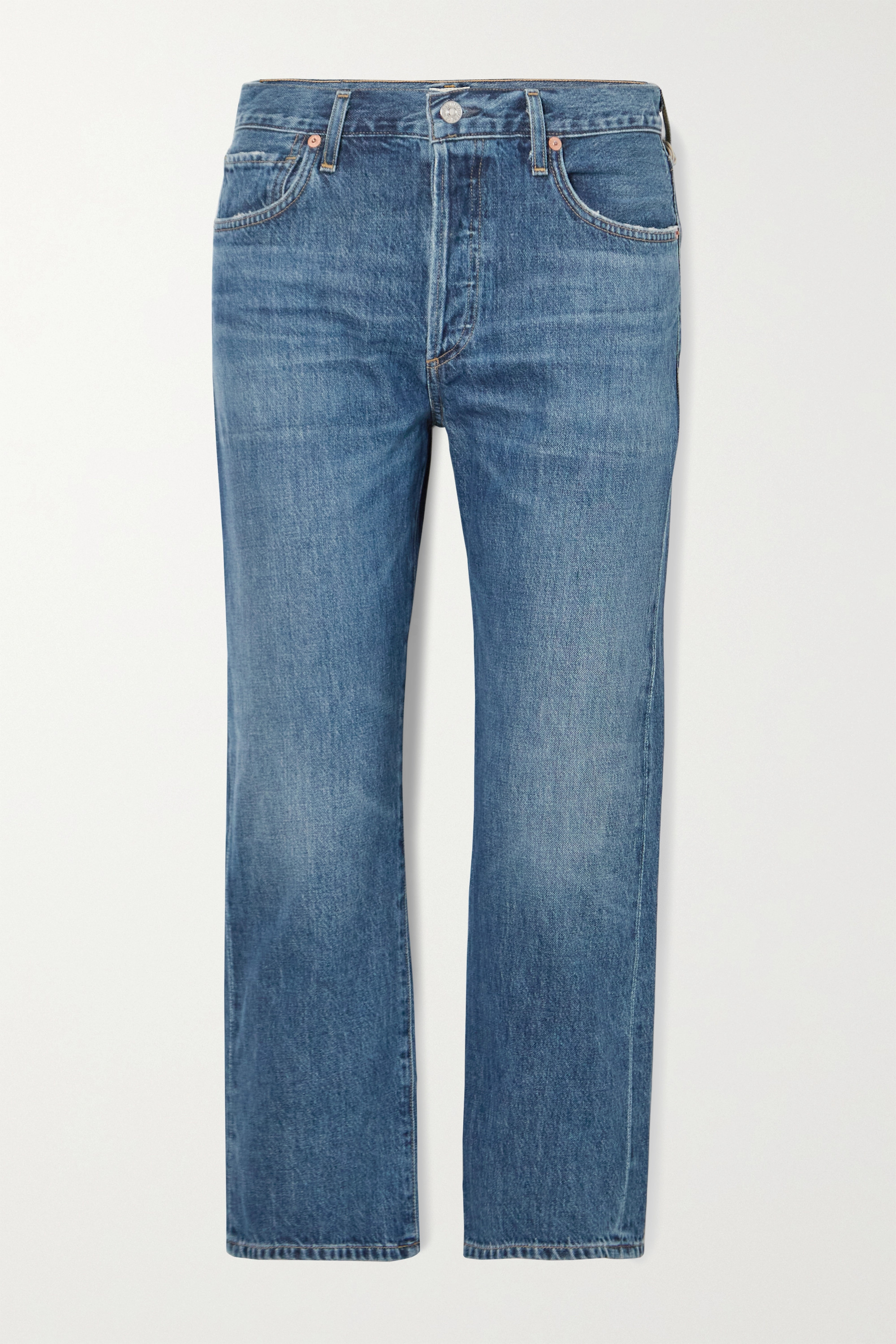 Citizens of Humanity Emery cropped organic high-rise straight-leg jeans