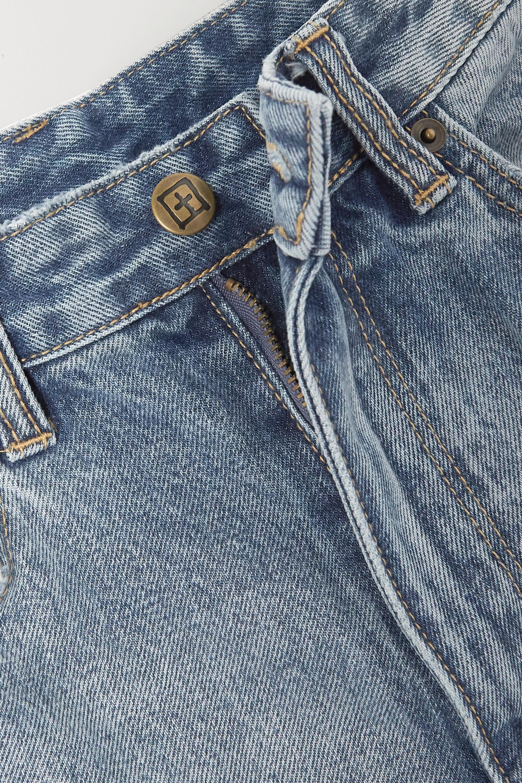 Ksubi Playback True Vintage Slash distressed high-rise straight-leg jeans