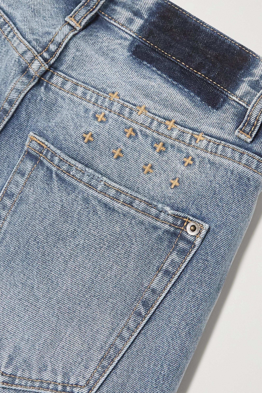 Ksubi Playback True Vintage Slash hoch sitzende Jeans mit geradem Bein in Distressed-Optik