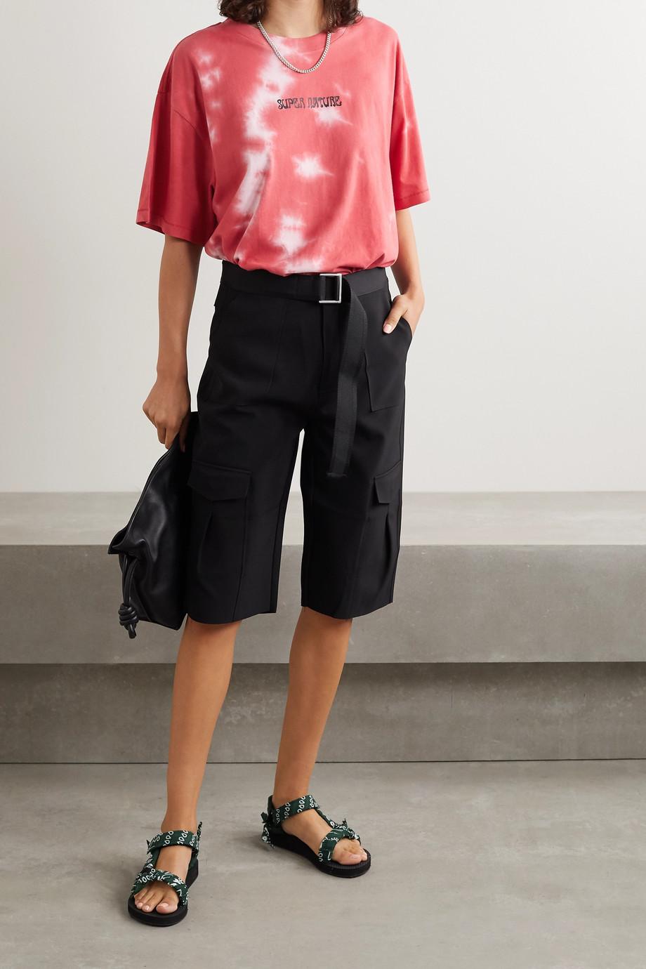 Ksubi T-Shirt aus Baumwoll-Jersey mit Batikmuster und Print in Oversized-Passform
