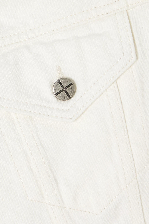 White Oversized Denim Jacket | Ksubi