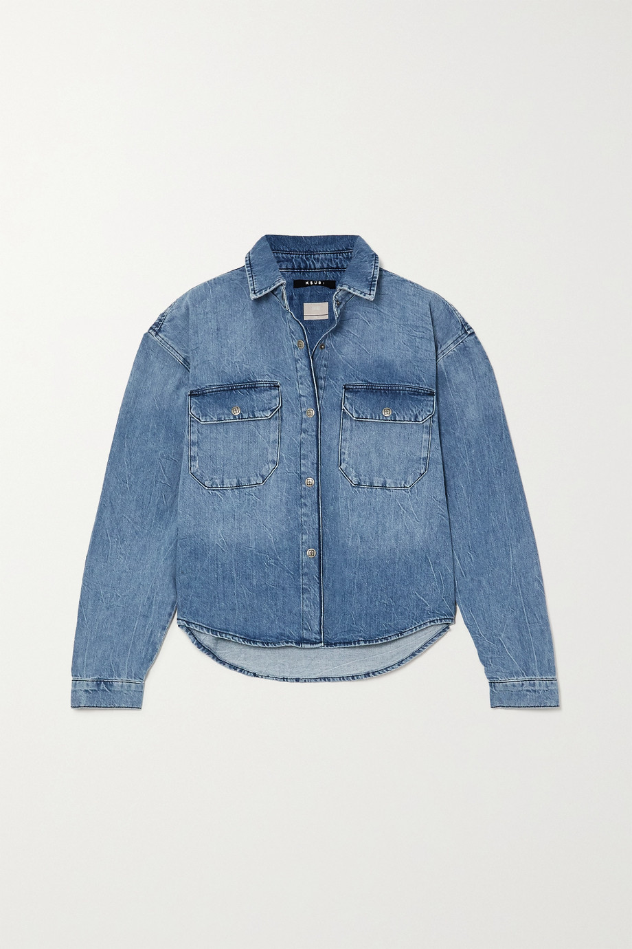 Ksubi Relaxo distressed denim shirt