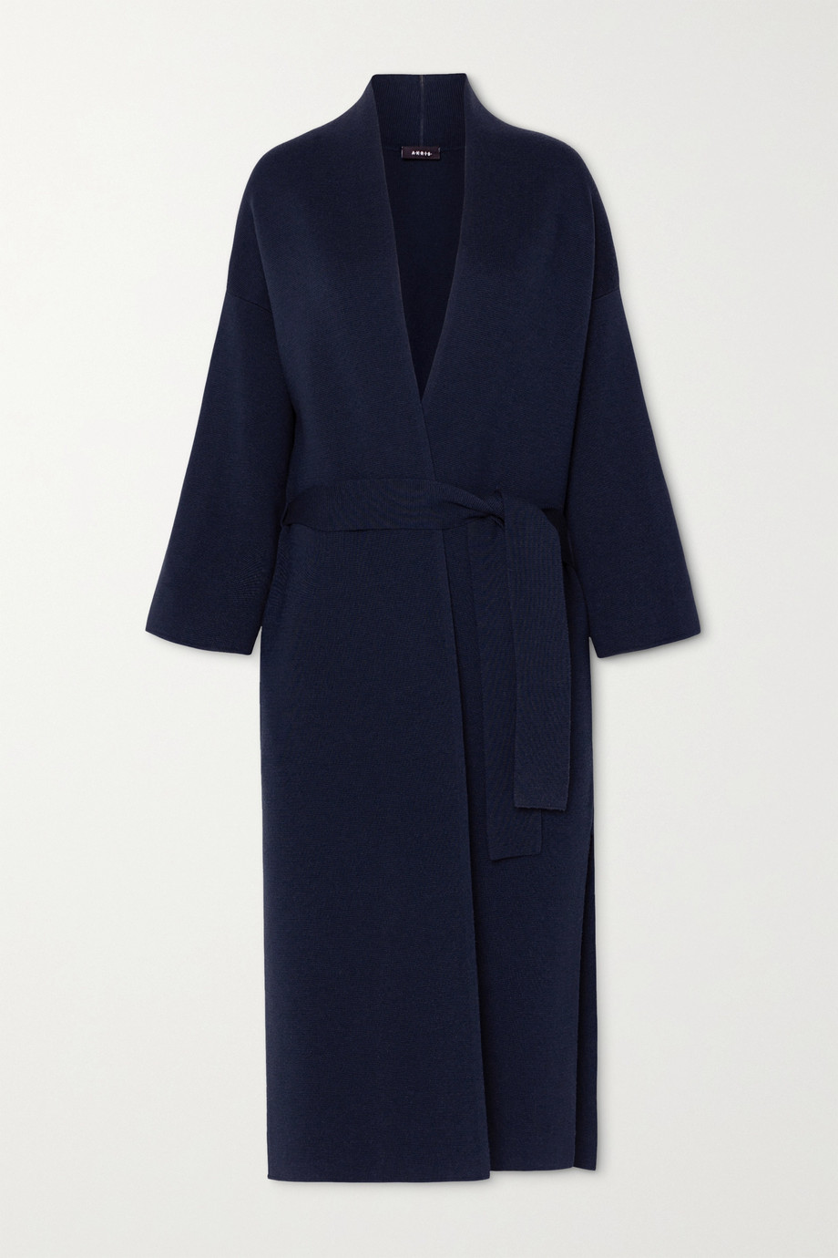 Akris Belted wool and silk-blend coat