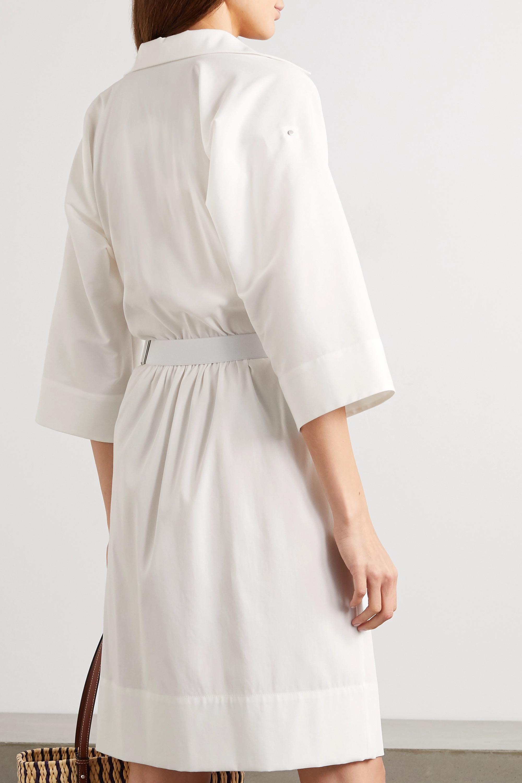 Akris Belted cotton-poplin shirt dress