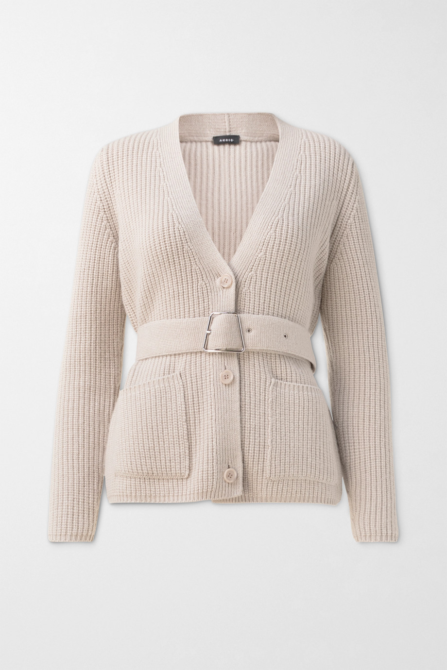 Akris Belted ribbed cashmere cardigan