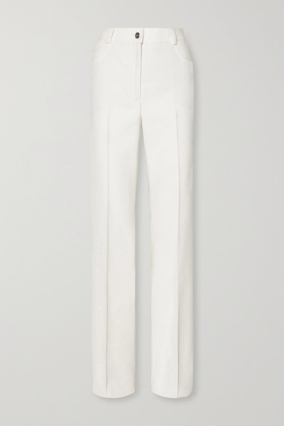 Akris Farid stretch cotton-blend bootcut pants