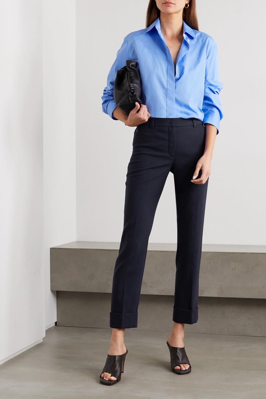 Akris Cropped wool-blend straight-leg pants