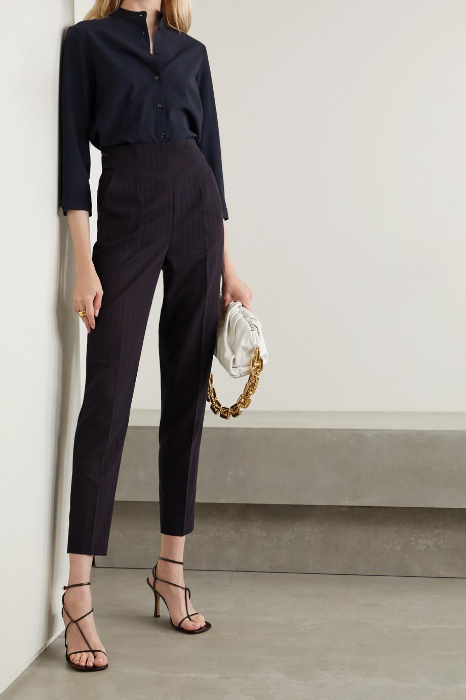 Akris Striped wool straight-leg pants