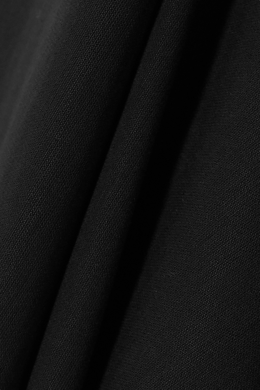 Black Cropped Cotton And Silk-blend Poplin Wide-leg Pants | Akris