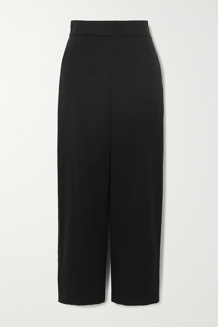 Akris Cropped cotton and silk-blend poplin wide-leg pants