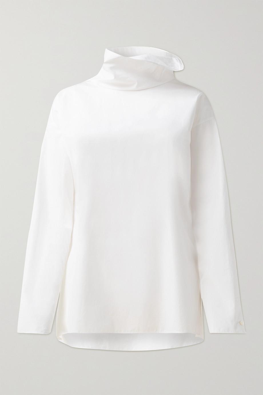 Akris Cotton-poplin turtleneck top