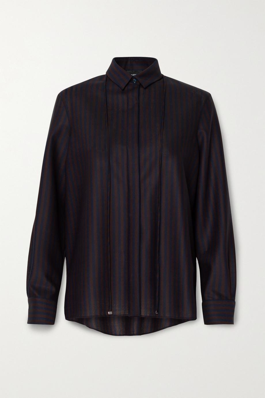 Akris Striped stretch-wool shirt