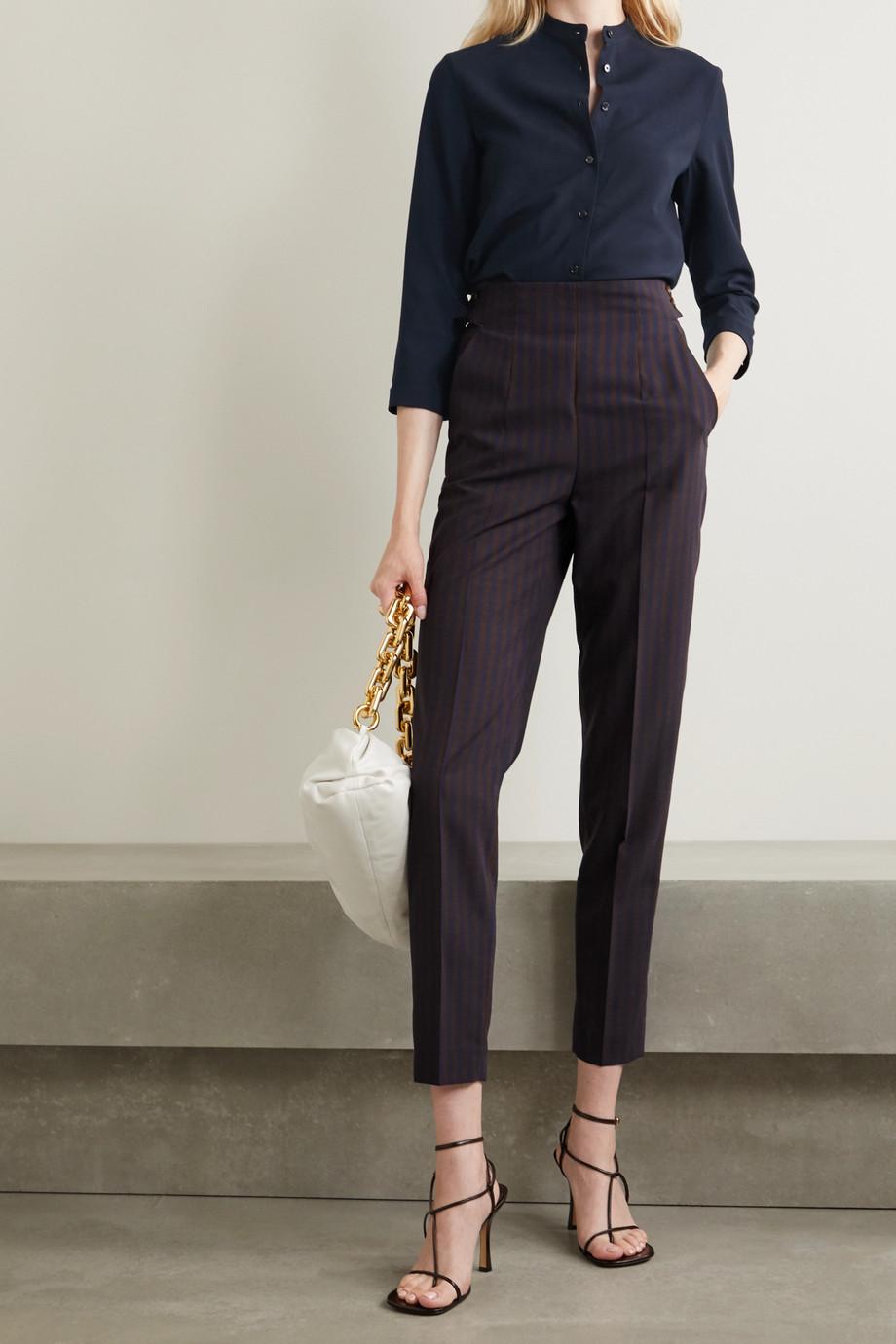 Akris Wool-crepe blouse