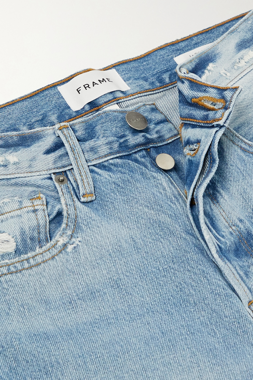 FRAME Le Original distressed high-rise straight-leg jeans