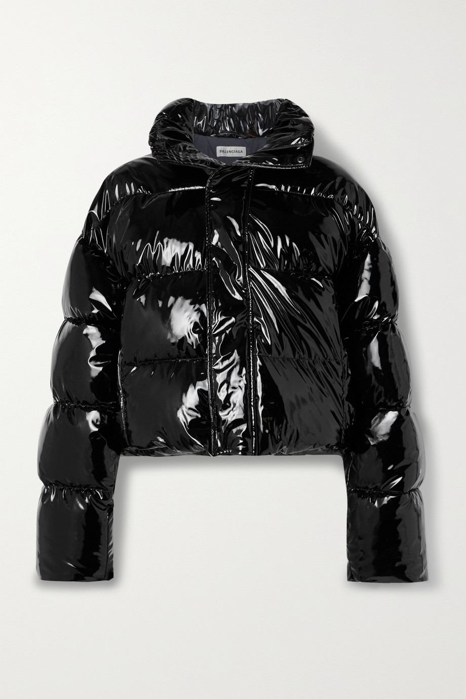 Balenciaga Hooded quilted vinyl jacket