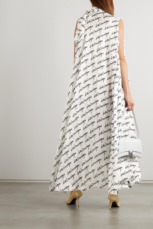 Balenciaga Asymmetrisches Kleid aus bedrucktem Seiden-Jacquard