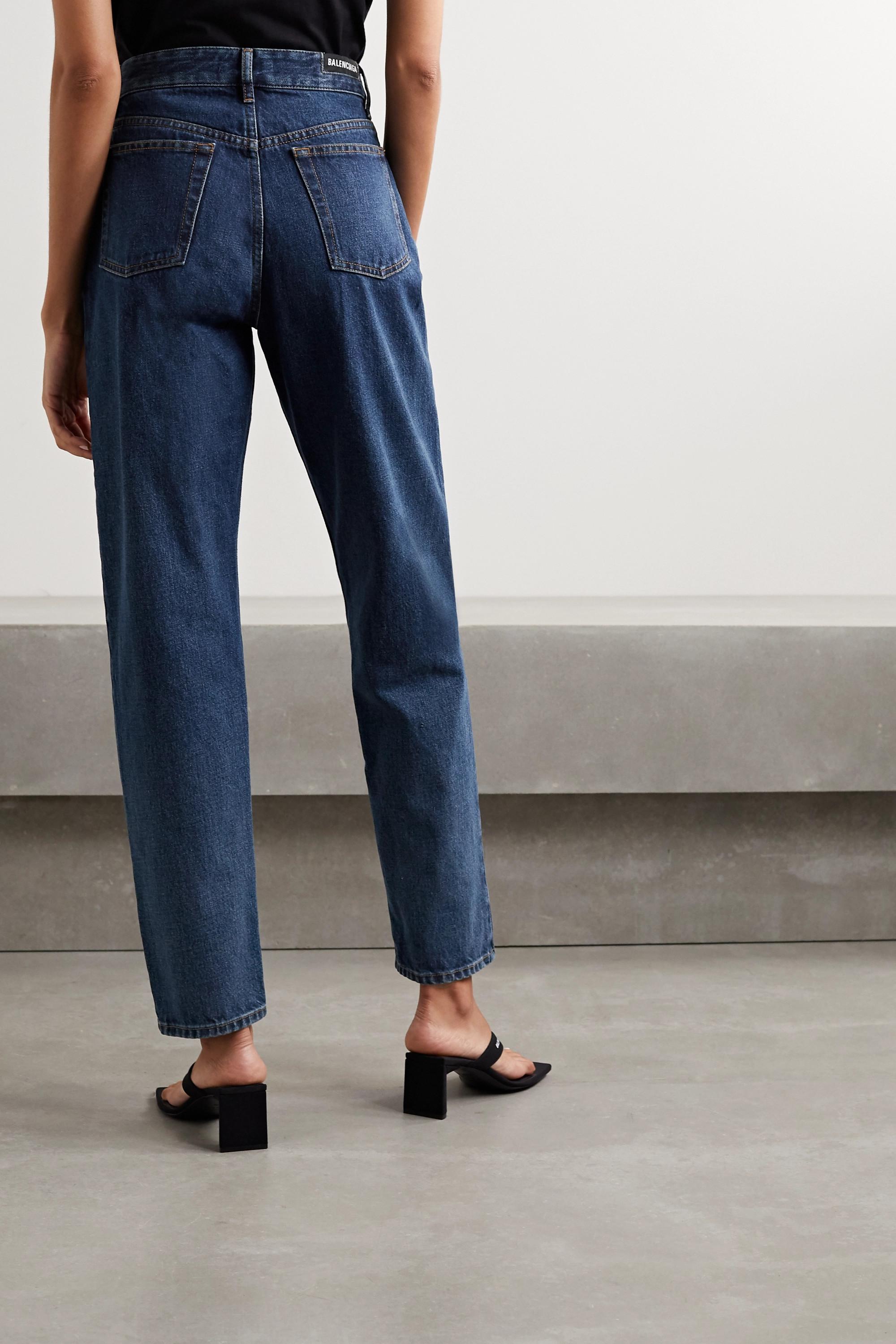 Balenciaga Hoch sitzende Jeans mit geradem Bein