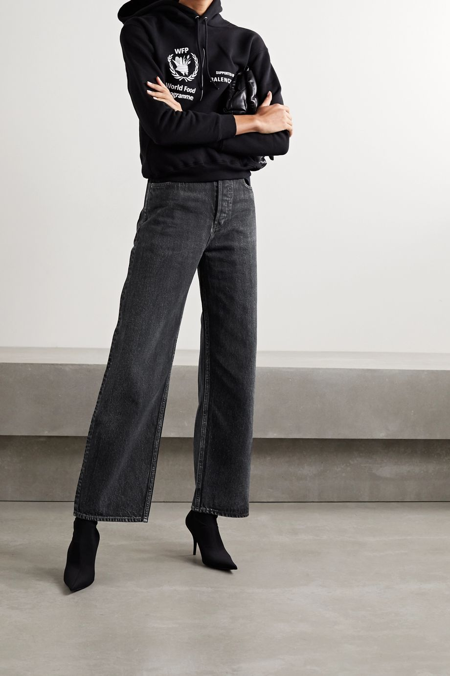 Balenciaga High-rise wide-leg jeans