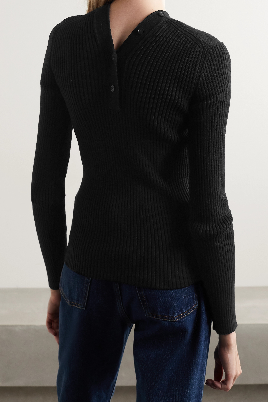 Balenciaga Ribbed cotton-blend cardigan