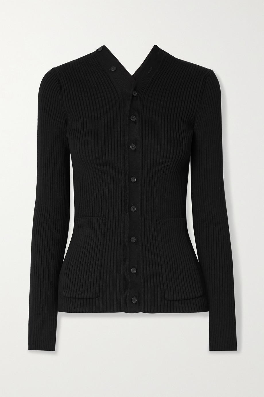 Balenciaga Ribbed cotton-blend cardigan
