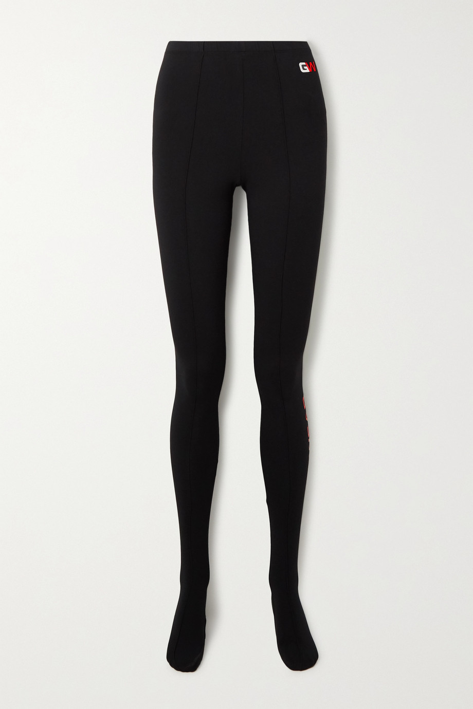 Balenciaga Printed stretch cotton-jersey leggings