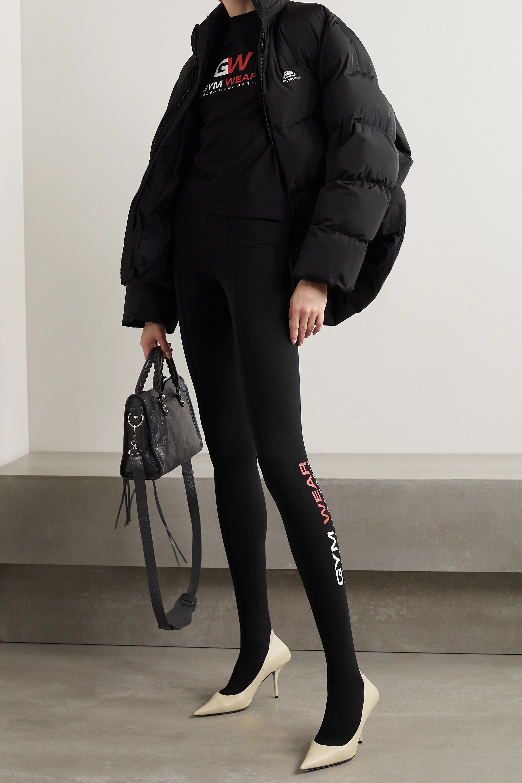 Balenciaga Printed stretch cotton-jersey leggings