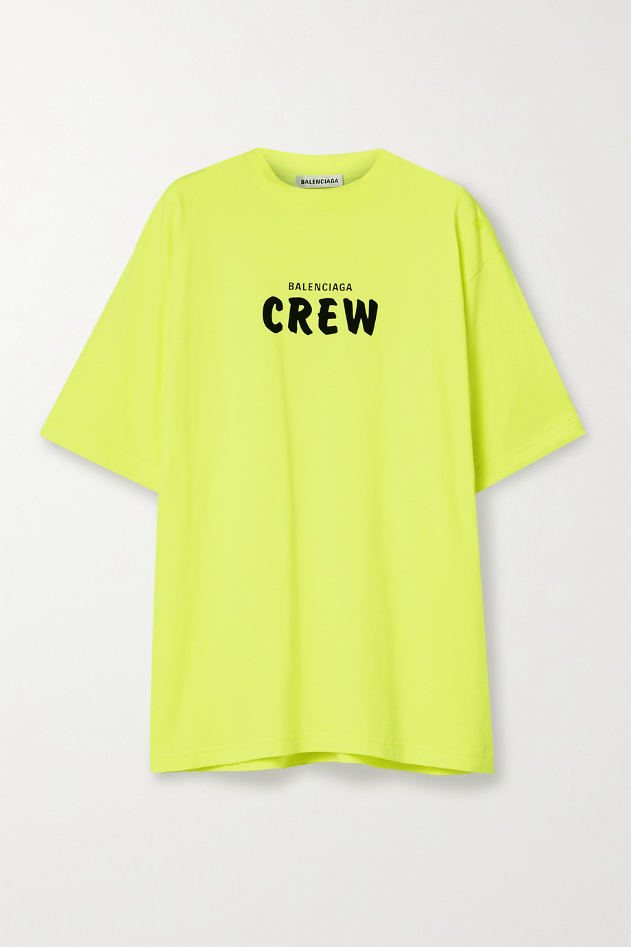Balenciaga Oversized neon printed cotton-jersey T-shirt