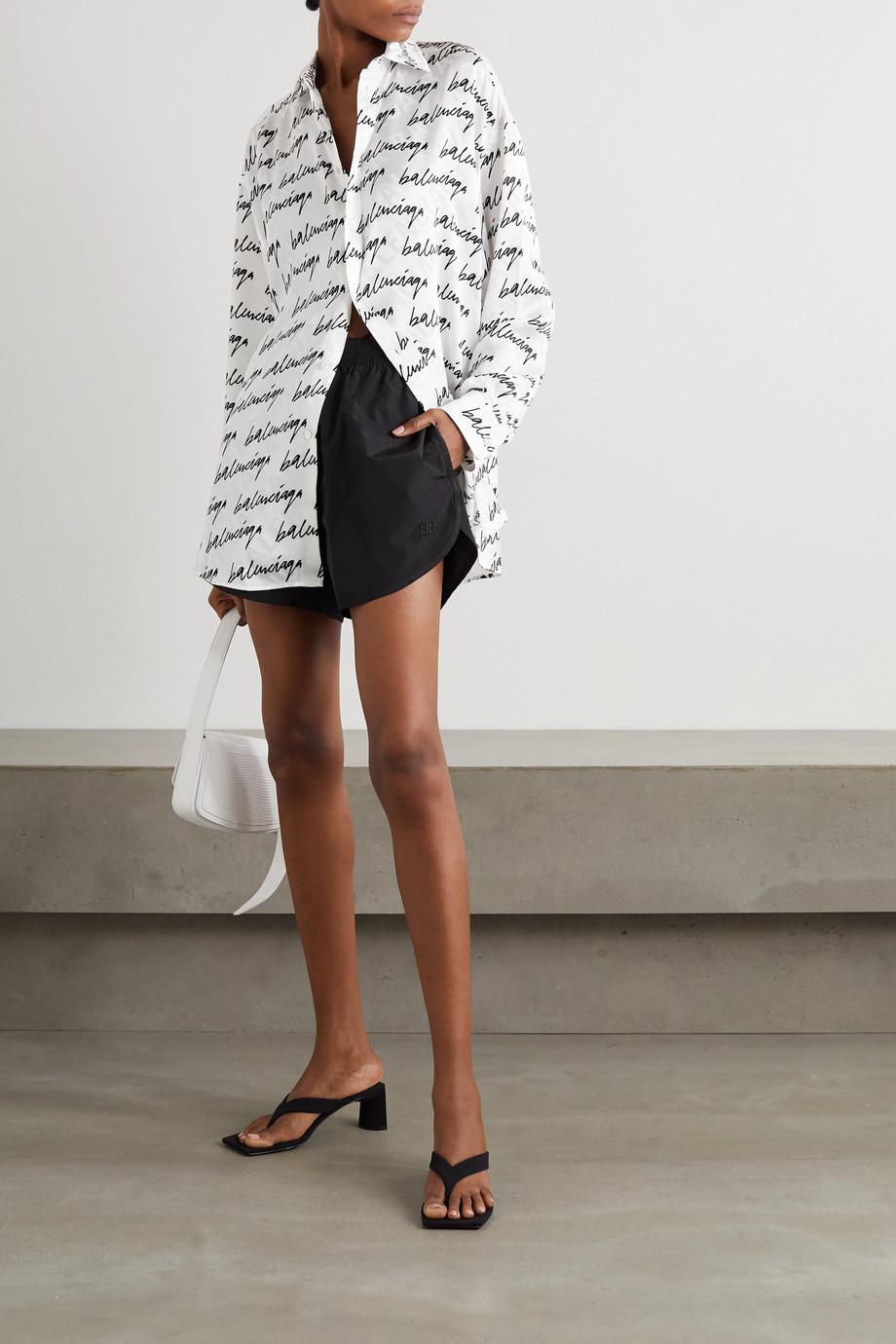 Balenciaga Printed silk-jacquard shirt